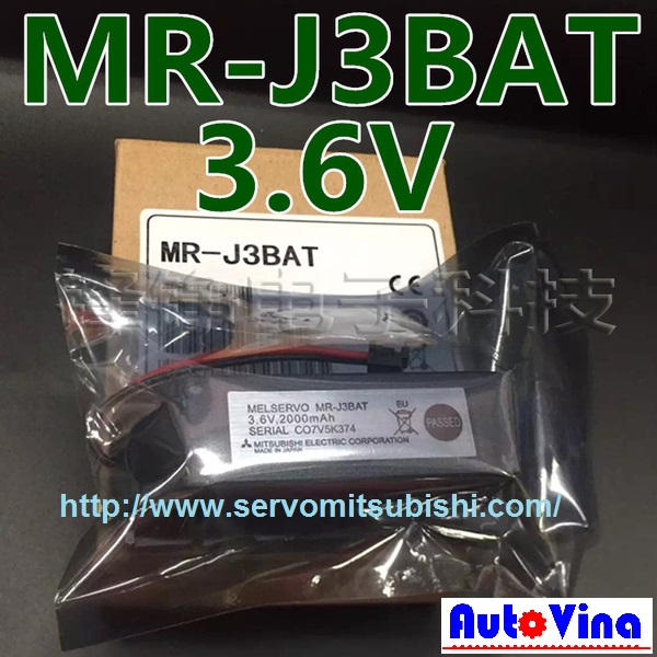 Tổng đại lý Pin nguồn, bán Battery MR-J3BAT cho MELSERVO - AC Servo Mitsubishi
