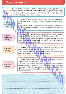 8. Sınıf Top Yayınları İnkılap Tarihi Çalışma Kitabı Cevapları Sayfa 40
