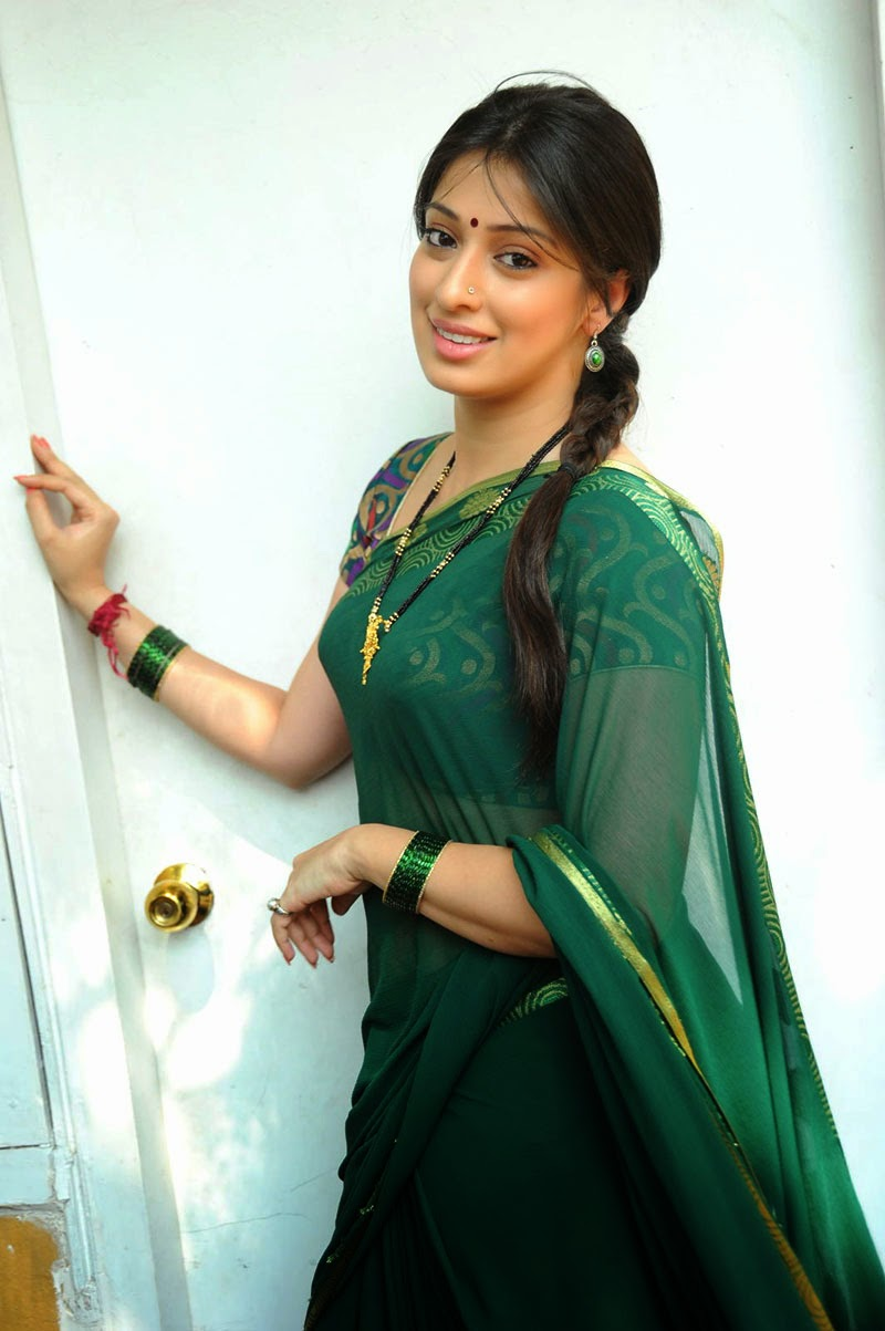 Lakshmi Rai Hot Green Saree Pictures  Laxmi Roy Hd Images -1472