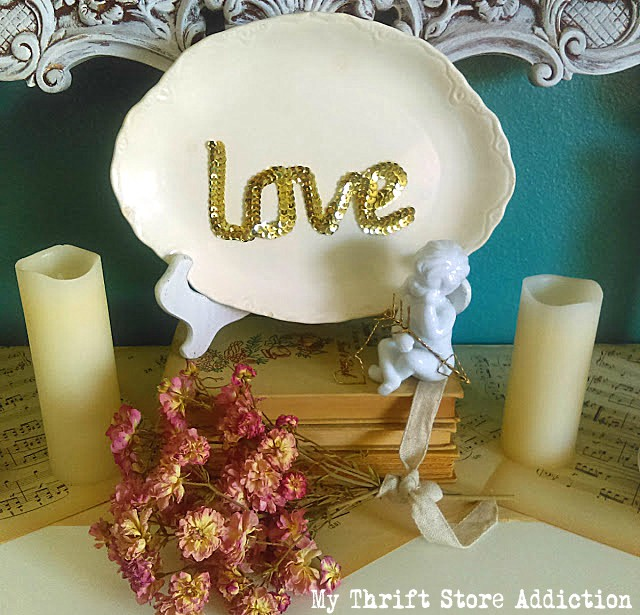 romantic Valentine mantel