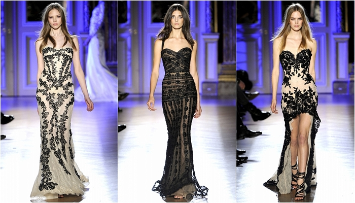 Haute Couture spring 2012 Zuhair Murad black embroidery dresses