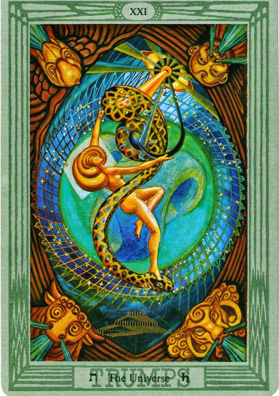 El Universo. Toth Tarot. Aleister Crowley y Lady Frieda Harris
