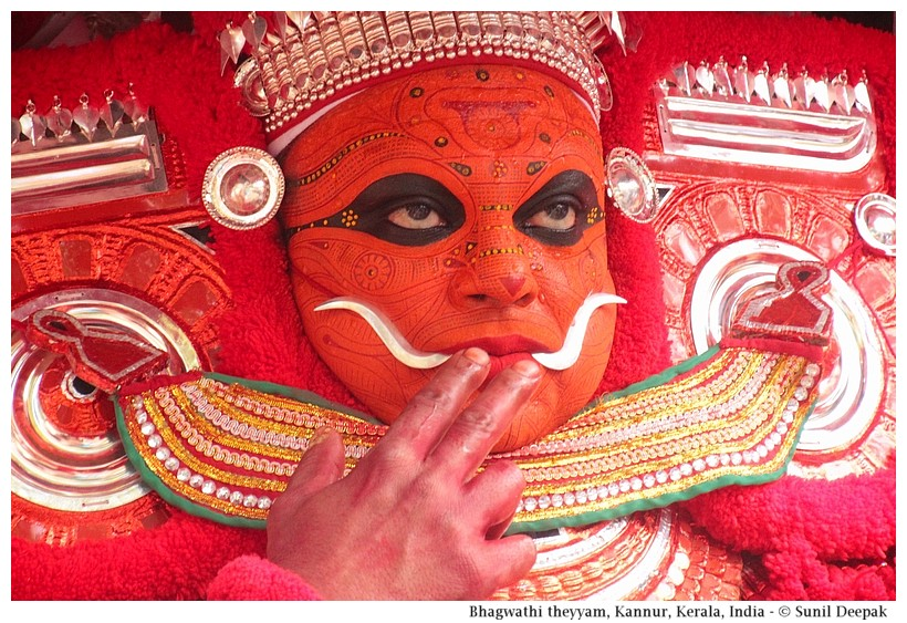 Bhagwati Theyyam, Kannur, Kerala, India - Images by Sunil Deepak