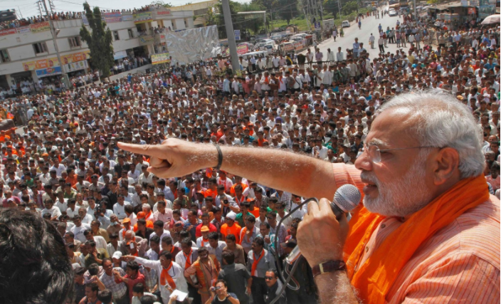 modi in 2014 election rally