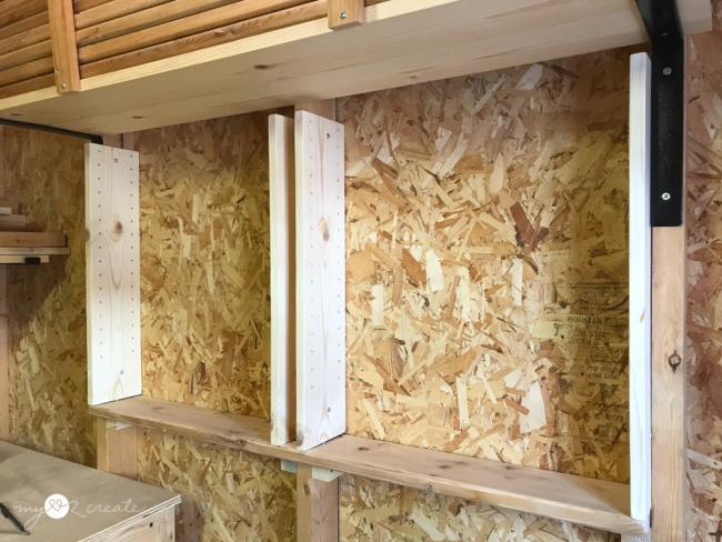 how to build between the studs adjustable storage shelves