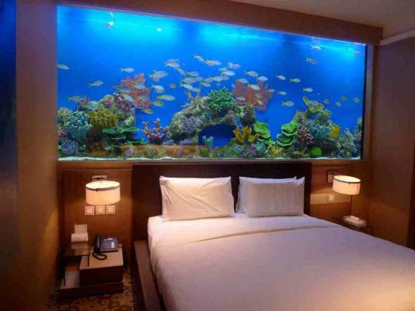 How to make wall aquarium and wall fish tank diy for How to build a large fish tank