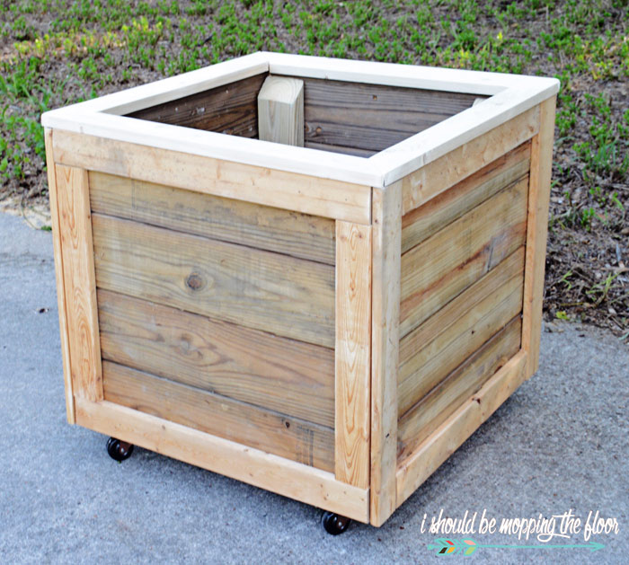 How To Make A Rolling Planter Box I Should Be Mopping The