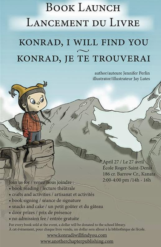 Book Launch, Konrad I will find you, review, jennifer perlin, jay lutes, children book