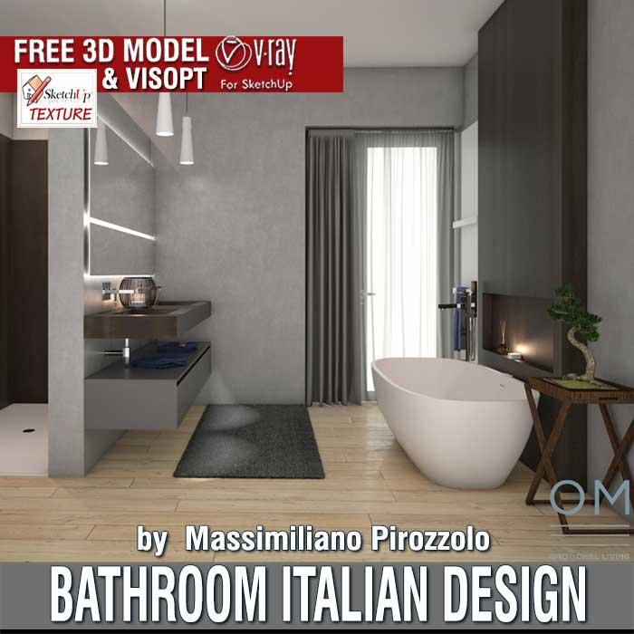 Sketchup Free 3d Model Bathroom Italian Design Vray Visopt