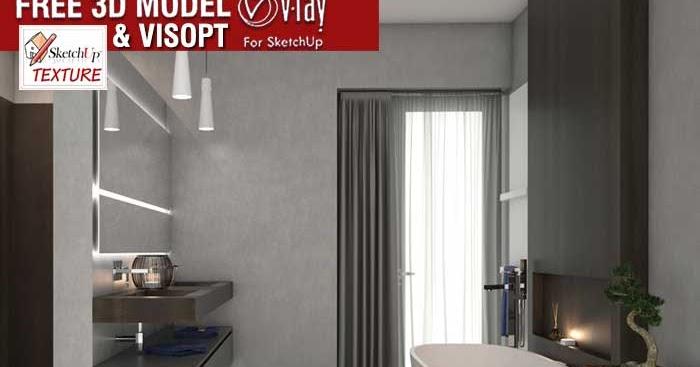 Sketchup Texture Sketchup Free 3d Model Bathroom Italian Design Vray Visopt