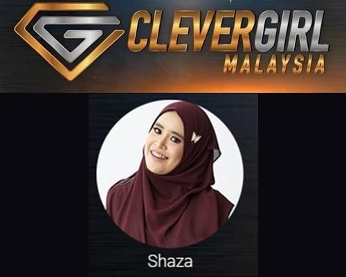 Biodata Shaza Clever Girl Malaysia 2017, profile Shaza, biografi, profil dan latar belakang Shaza Clever Girl Malaysia TV3 2017 musim 2, foto, gambar Shaza Clever Girl Malaysia musim kedua