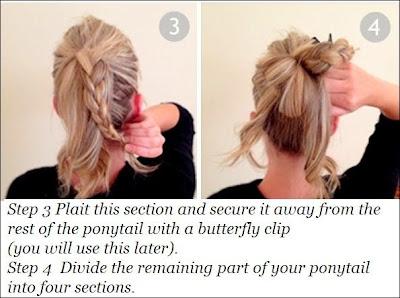 Cute Easy Braided Bun Hairstyle For Long Hair