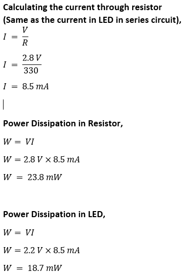 Power dissipation Calculation