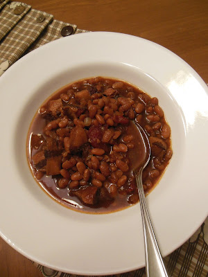 Wow, That's a lot of Bacon in my Beans, a slow cooker recipe.
