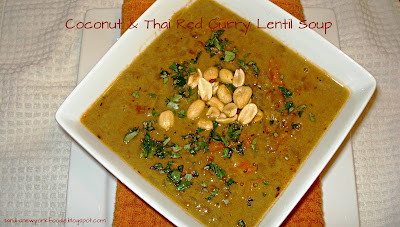 Coconut and Thai Red Curry Lentil Soup