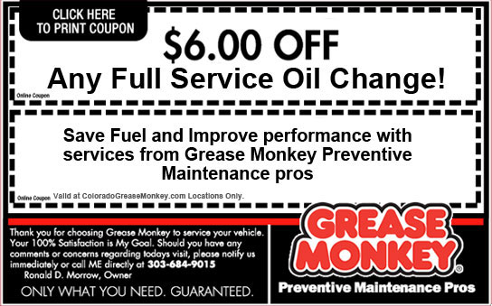e28e2415f99 Grease monkey oil change coupons denver