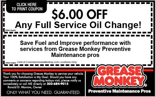 grease monkey coupon richmond va