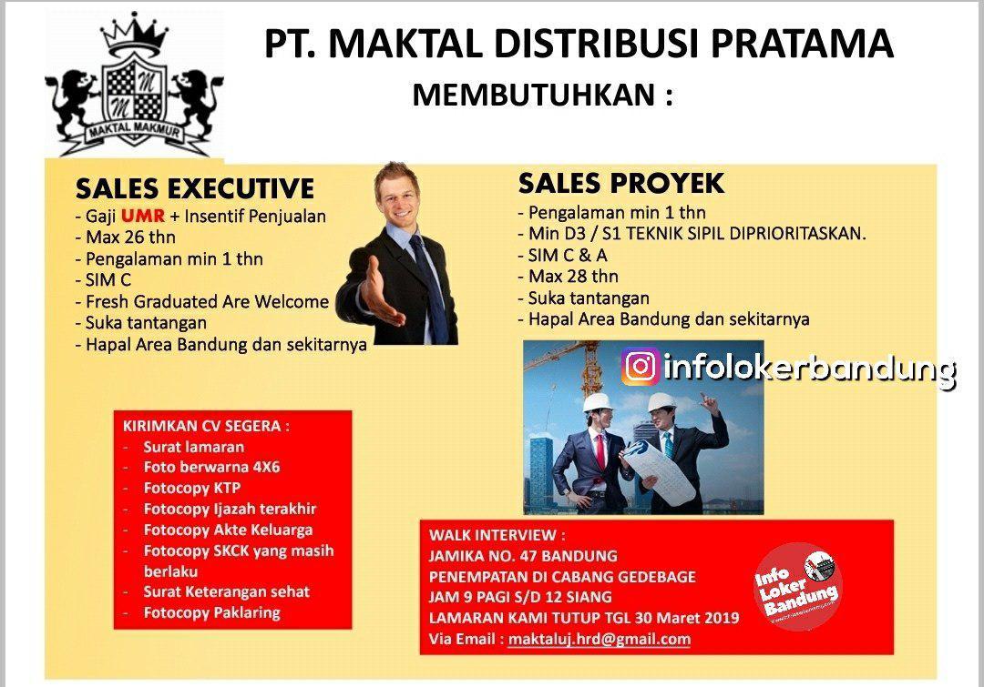 Lowongan Kerja PT. Maktal Distribusi Pratama Bandung Maret 2019