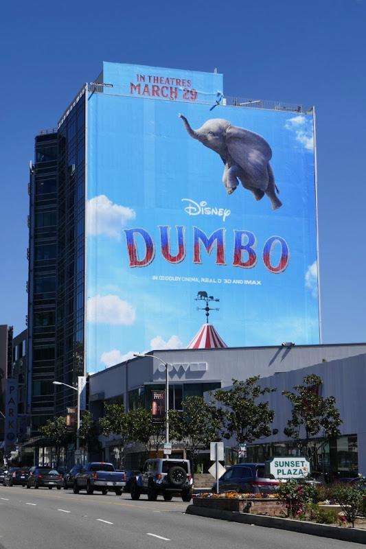 Giant Dumbo film billboard Sunset Strip