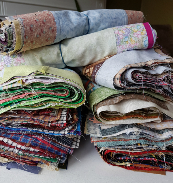 Bundles of quilt blocks | DevotedQuilter.blogspot.com