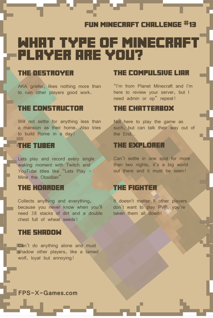 Minecraft Build Challenge List