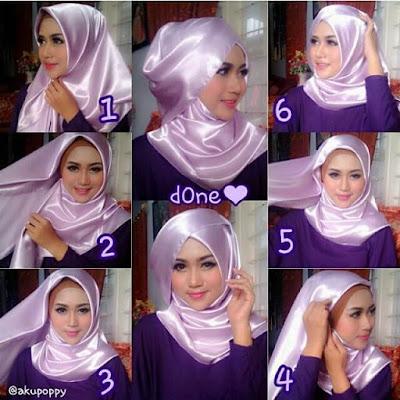 Tutorial Hijab Segi Empat Bahan Kain Satin Velvet untuk Pesta ala Hijabers Video Youtube