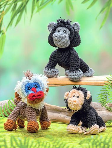 Ravelry: Yuna the Gorilla - Amigurumi pattern by Laura Pavy | 500x379
