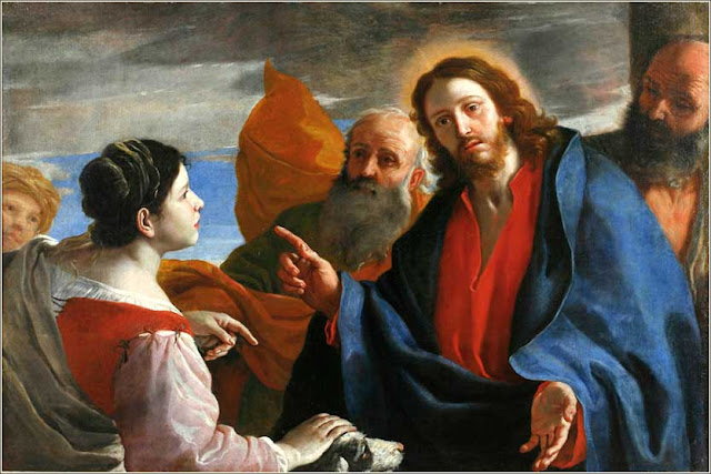 Jésus et la Cananéenne par Mattia Preti, c. 1660