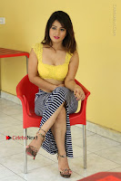 Cute Telugu Actress Shunaya Solanki High Definition Spicy Pos in Yellow Top and Skirt  0449.JPG