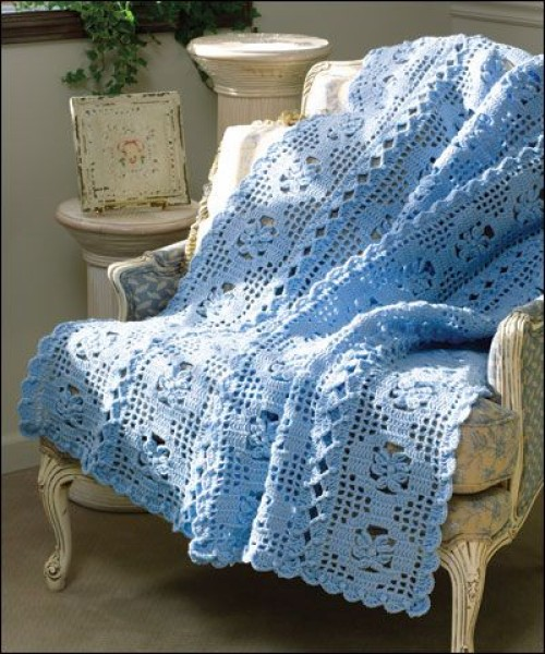 French Provincial Afghan - Free Pattern
