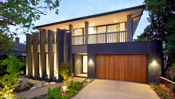Fachadas de casas modernas fachadas de casas modernas con for Fachadas modernas para casas pequenas de una planta