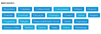 Como colocar e personalizar os marcadores (Categorias) do blog