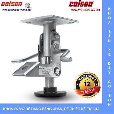 Bộ khóa sàn xe đẩy Colson Mỹ Floor Lock Brake tại Hà Nội www.banhxepu.net