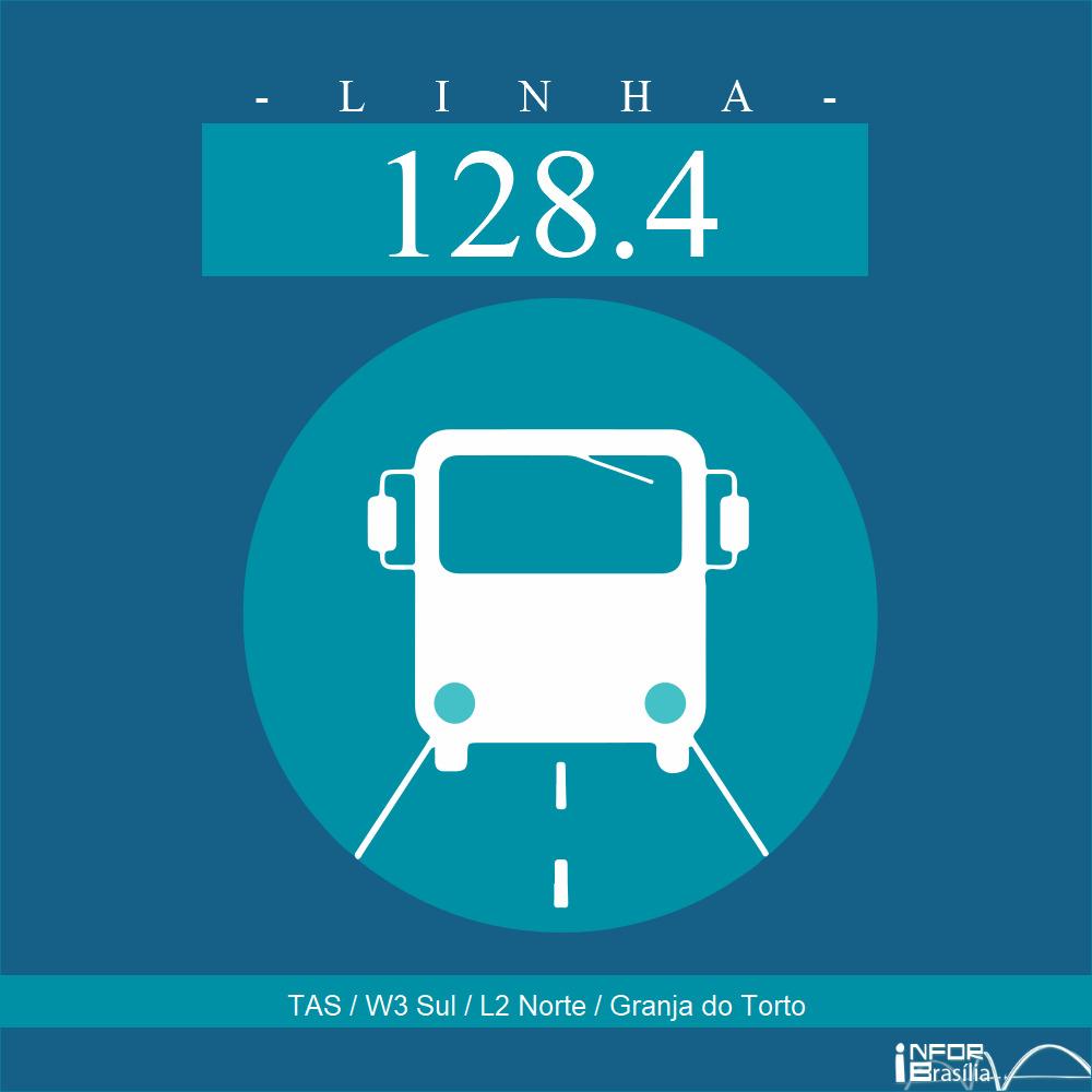 Horário de ônibus e itinerário 128.4 - TAS / W3 Sul / L2 Norte / Granja do Torto