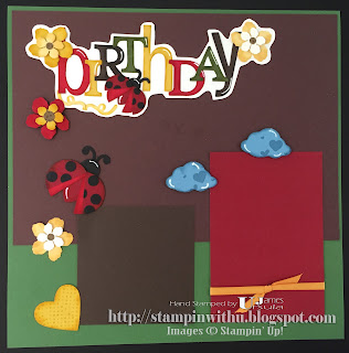 Birthday Ladybug Scrapbook page - Punch Art