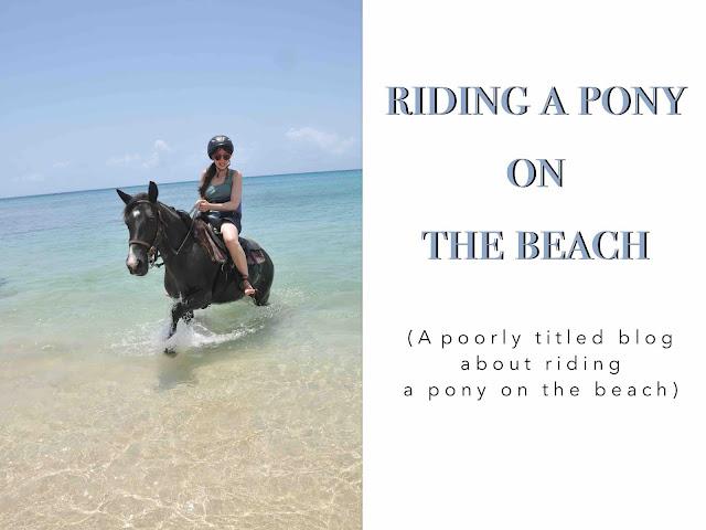 Riding a pony on the beach