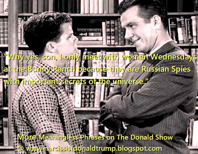 funny meme donald trump jr downplays meeting russian spy attorney just as ward cleaver downplays meeting with hookers at bunny ranch