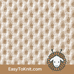 Honeycomb Cable | Easy to knit #knittingstitches #knitcables