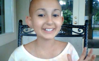 "In Memoriam - The brave little girl, ""makeup"" to her cancer"