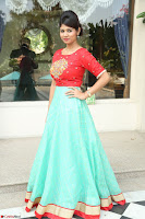 Lucky Shree Looks super cute in Bright Red Green Anarkali Dress ~  Exclusive 001.JPG