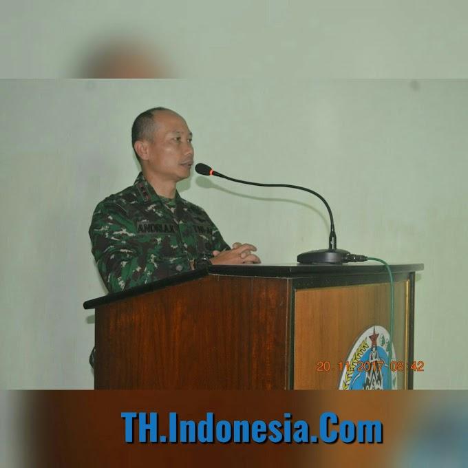 Upacara Bendera Di Makodim Pati Guna Meningkatkan Rasa Nasionalisme Prajurit TNI AD