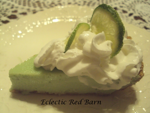 Key Lime Pie with Whipped Cream @eclecticredbarn.blogspot.com