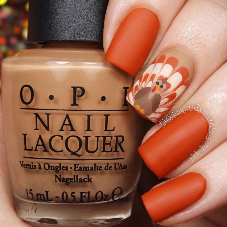 Trending Thanksgiving Nail Art Ideas For 2017