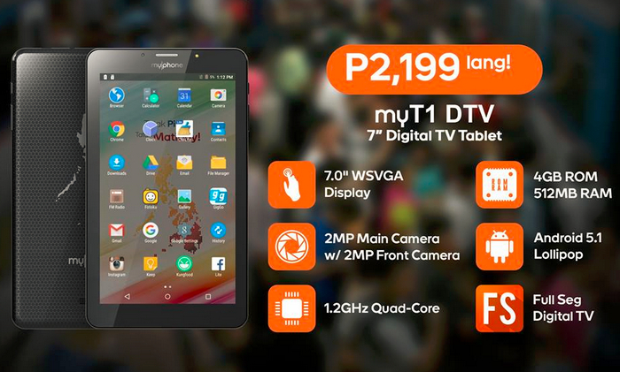 Affordable MyPhone MyT1 and MyT2 Android Tablets Have DTV Feature