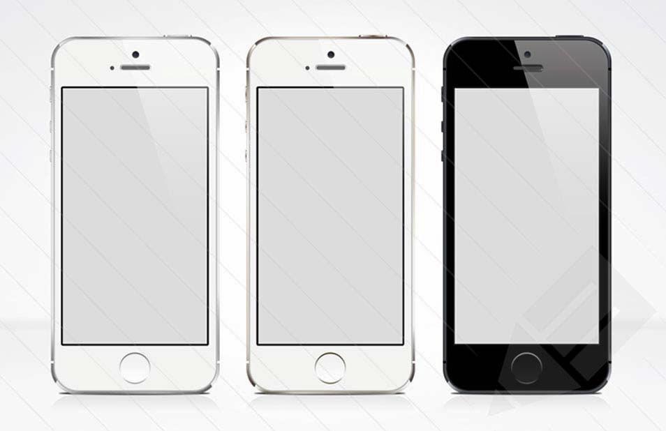 iPhone 5S Mock-up PSD Template