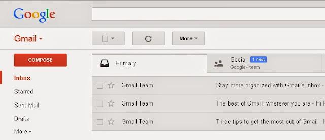 tampilan email gmail