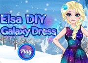 Elsa DIY Galaxy Dress