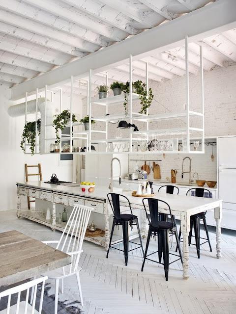 Дизайн-проекты. Промышленный лофт с деревенским шармом в Барселоне