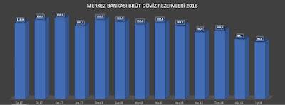 Merkez Bankası Brüt Döviz Rezervi 2018