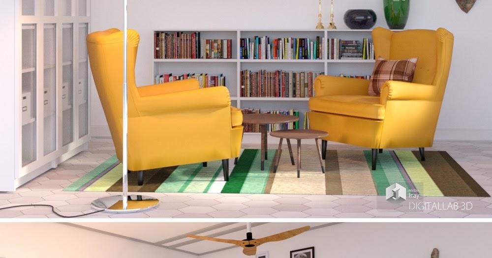 Download daz studio 3 for free daz 3d reading room for Living room 2 for daz studio
